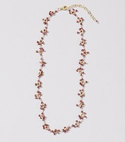 Genuine Faceted Garnet Rondelle Cluster Necklace
