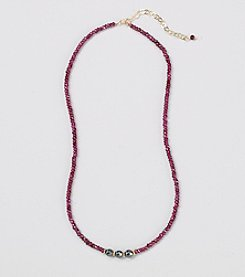 Faceted Garnet Rondelles 16