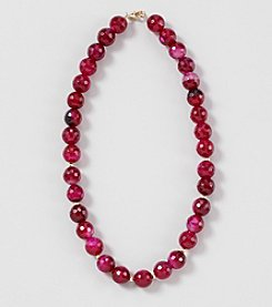 Genuine Faceted Fuchsia Color Large Agate Beads 17