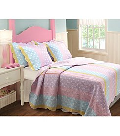Greenland Home® Polka Dot Stripe 3-pc. Quilt Set