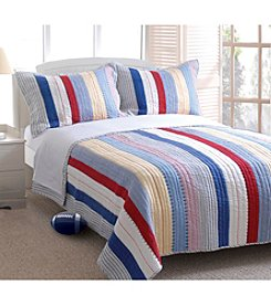Greenland Home® Prairie Stripe 3-pc. Quilt Set