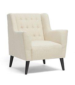 Baxton Studios Berwick Beige Linen Arm Chair
