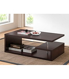 Baxton Studios Lindy Dark Brown Modern Coffee Table