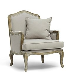 Baxton Studios Constanza Classic Antiqued French Accent Chair