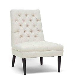Baxton Studios Zinnia Beige Linen Modern Accent Chair
