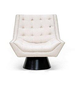 Baxton Studios Tamblin Beige Linen Modern Accent Chair