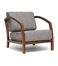 Baxton Studios Velda Brown Modern Accent Chair