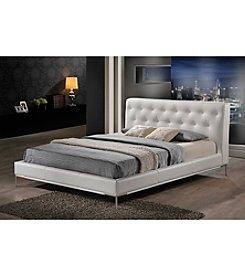 Baxton Studios Panchal White Modern Queen Platform Bed