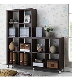 Baxton Studios Sunna Dark Brown Modern Cube Shelving Unit