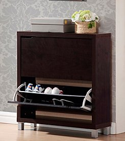Baxton Studios Simms  2-Shelf Modern Shoe Cabinet