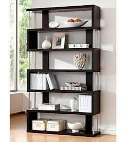 Baxton Studios Barnes Dark Brown 6-Shelf Modern Bookcase