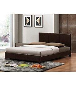 Baxton Studios Pless Dark Brown Modern Bed