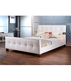 Baxton Studios Amara White Modern Bed