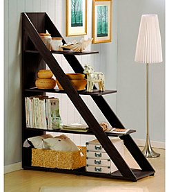 Baxton Studios Psinta Dark Brown Modern Shelving Unit