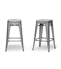 Baxton Studios Set of 2 French Industrial Modern Counter Stools