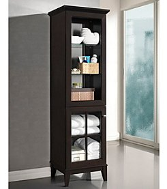 Baxton Studios Nelson Dark Brown Modern Storage Tower