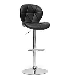 Baxton Studios Set of 2 Warsaw Black Modern Bar Stools