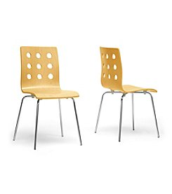 Baxton Studios Set of 2 Celeste Modern Dining Chairs