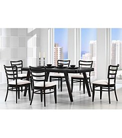 Baxton Studios Coventa 7-pc. Dark Brown Modern Dining Set