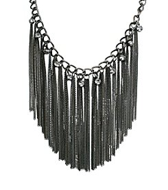 Gun Metal Dangling Chains Necklace