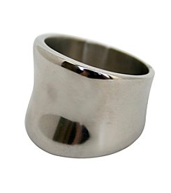Wide Convex Stainless Steel Ring