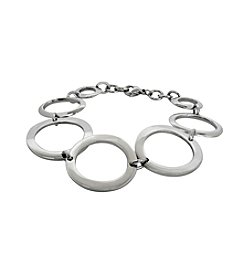 Ovals and Circles Stainless Steel Bracelet