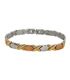 Stainless Steel Tri-Tone Bracelet