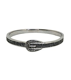 Black Gem Stainless Steel Buckle Bracelet