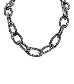 Mesh Tube Links Stainless Steel Necklace