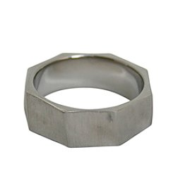 Men's Stainless Steel Hexagonal Nut Ring