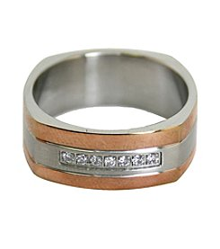 Men's Rose Goldtone Stainless Steel Ring