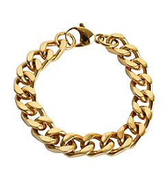 Men's Gold-plated Stainless Steel Bracelet
