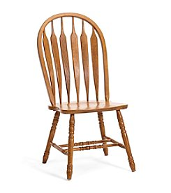 Intercon Classic Oak Curved Arrow Back Side Chair