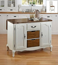 Home Styles® The French Countryside Oak and Rubbed Kitchen Island