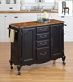 Home Styles® The French Countryside Oak and Rubbed Kitchen Cart