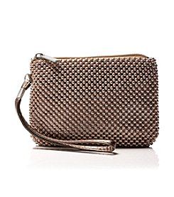 La Regale® Mesh Top Zip Wristlet