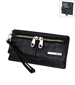 Kenneth Cole REACTION® Wooster Street Double Gusset Flap Clutch with Wristlet