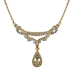 Downton Abbey® Goldtone Crystal Edwardian Swag Shaped Collar 16