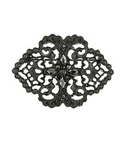 Downton Abbey® Jet Belle Epoch Swirl Filigree Bar Pin
