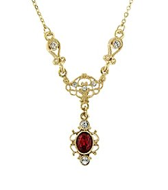 Downton Abbey® Goldtone Crystal Belle Epoch Necklace 16