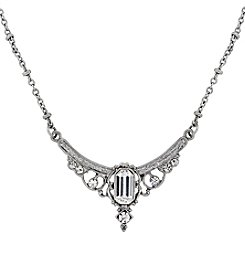 Downton Abbey® Silvertone Crystal Edwardian Statement Collar 16