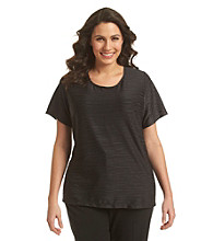 Notations® Plus Size Textured Tee