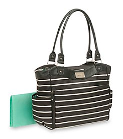 Carter's® Black/White Striped Tote Diaper Bag