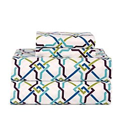 Celeste Home Ultra Soft Flannel Lattice Sheet Set