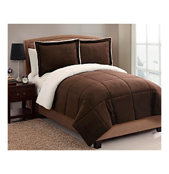 piece chloe lined twin by micro nightst reversible exceptionalsheets comforter sherpa mink set