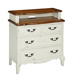 Home Styles® French Countryside Oak and Rubbed White Media Chest