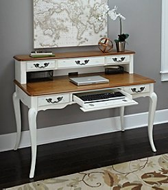 Home Styles® French Countryside Oak and Rubbed White Executive Desk Collection