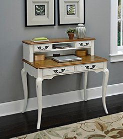 Home Styles® French Countryside Oak and Rubbed White Student Desk Collection