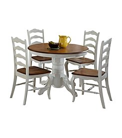 Home Styles® French Countryside Oak and Rubbed White 5-pc. Dining Collection