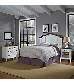 Home Styles® French Countryside Oak and Rubbed White Queen Bedroom Collection